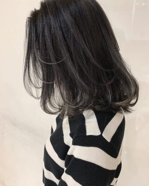 黒髪 グラデーション22