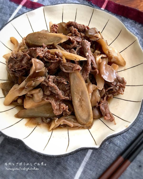 牛肉とごぼうのしぐれ煮丼
