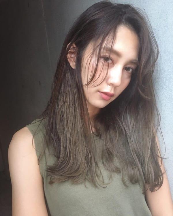 黒髪 グラデーション24