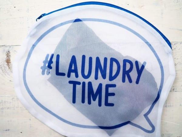 #LAUNDRY TIMEのロゴ入り(ダイソー)
