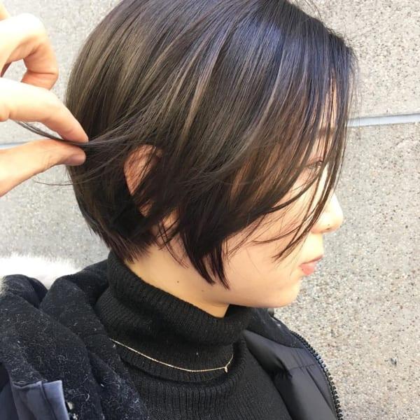 黒髪 グラデーション