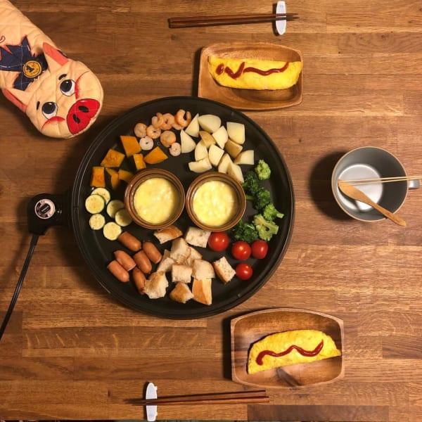 野菜たっぷり!人気のチーズフォンデュ