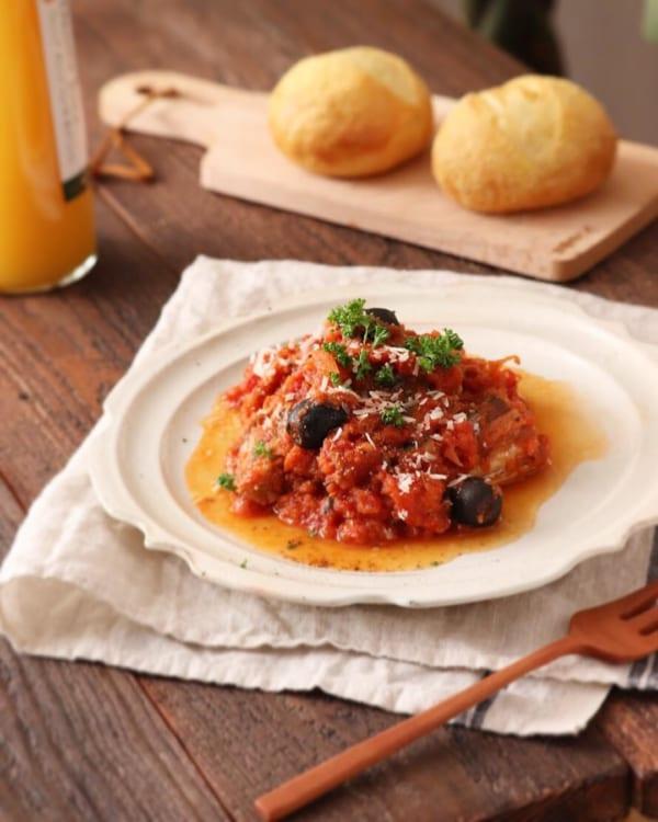 サバ缶で手軽に!サバのトマト煮