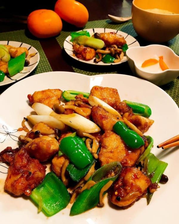 鶏むね肉を使って簡単ヘルシーな酢豚