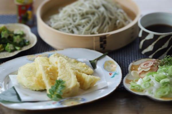 旬の野菜を使った天ぷら