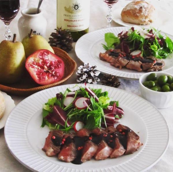 自宅で本格フレンチ 牛肉のステーキ