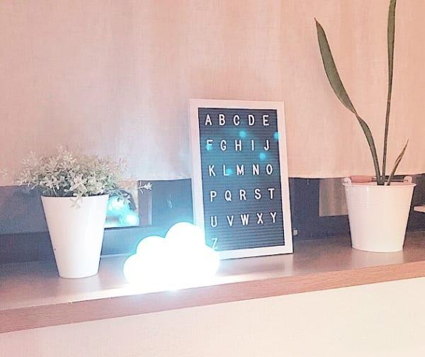 【キャンドゥ】のマーキーライト(点灯時)