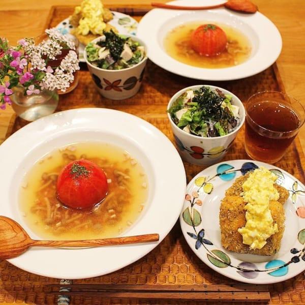 ごろごろ野菜のトマトスープ2