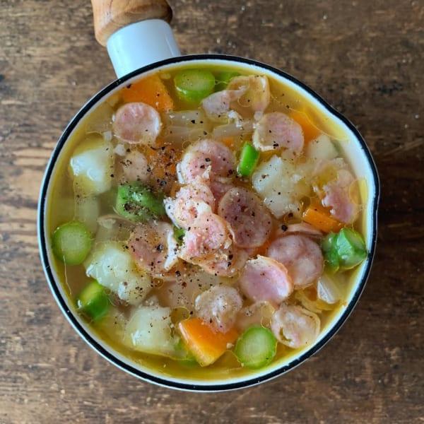 残り野菜とコンソメで簡単スープレシピ