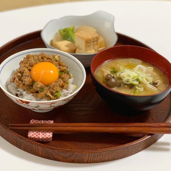 シンプルに納豆ご飯