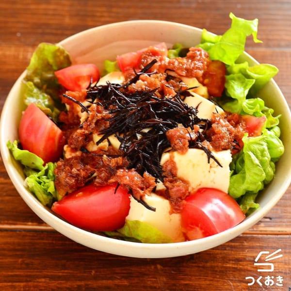 ひじきと豆腐の和風梅おかかサラダ