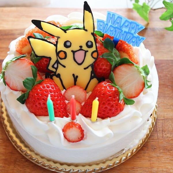 キャラクタープレートのケーキ