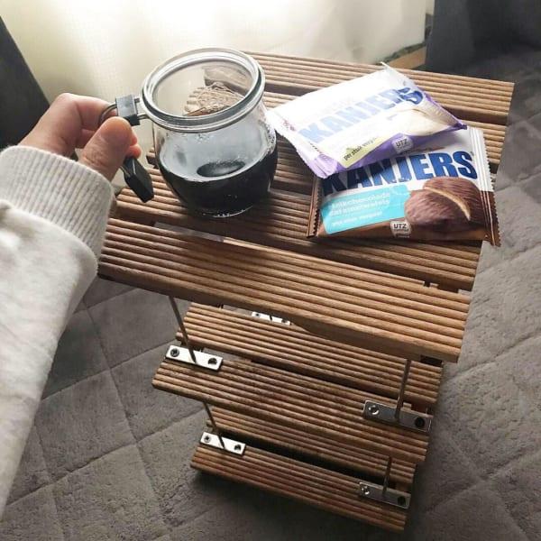セリア材料で作るサイドテーブルは収納棚としてもOK