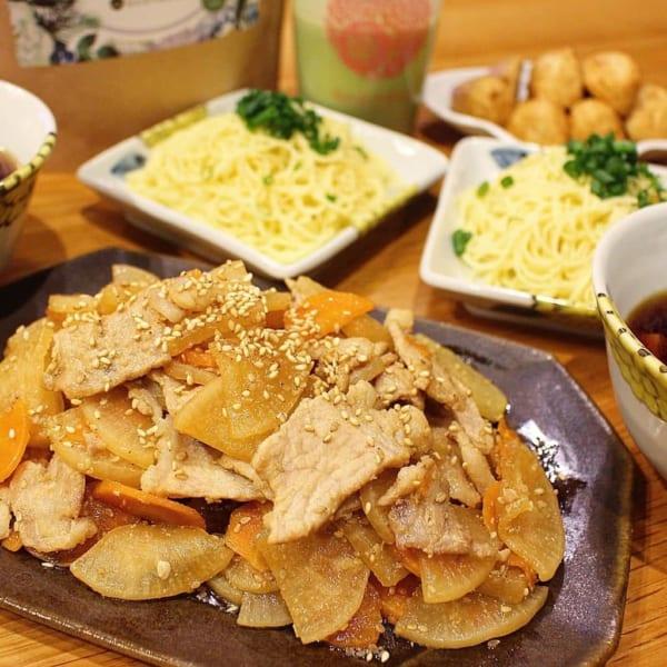 豚肉と野菜のヘルシーな甘辛炒め煮