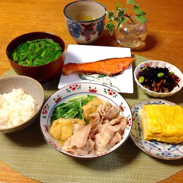 豚バラと水菜のあっさり煮