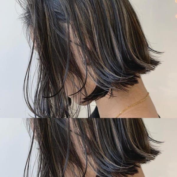 黒髪 グラデーション4