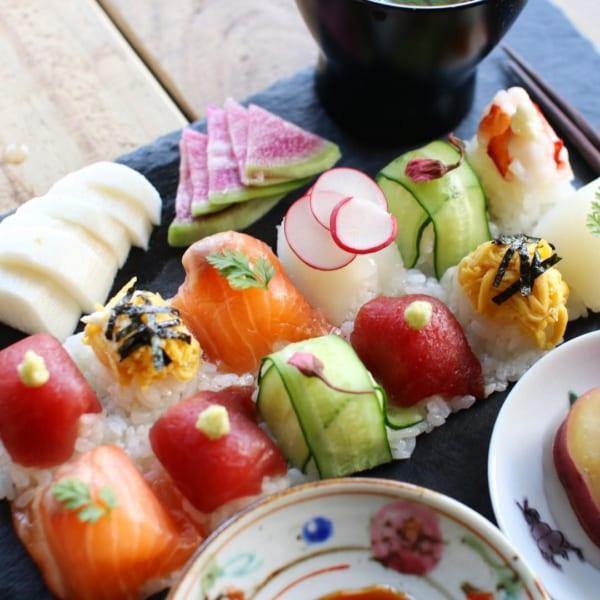 製氷皿でつくる!?手毬寿司