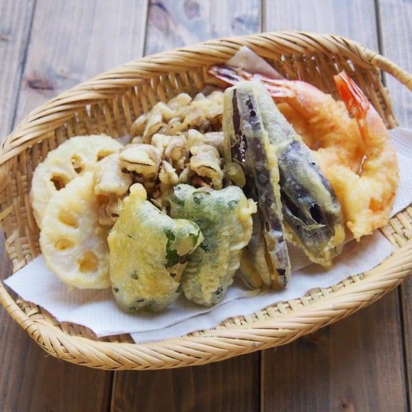 旬の野菜を使った天ぷらもおすすめ!