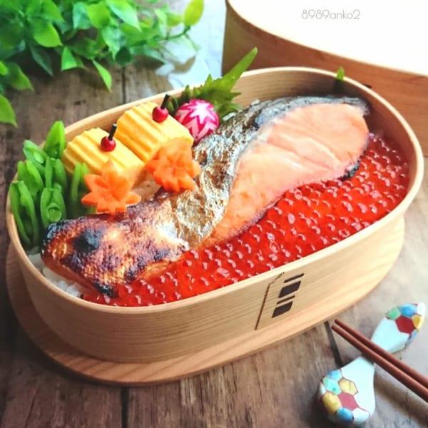 鮭といくらの親子丼