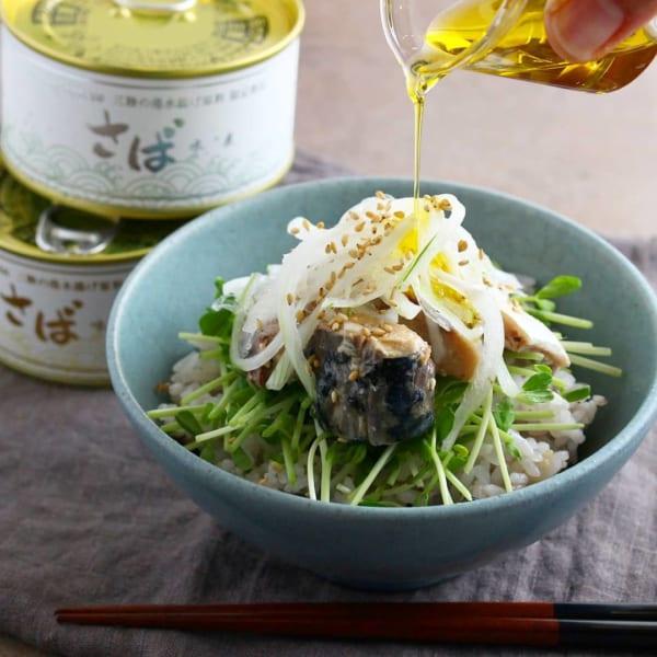 鯖水煮缶で作る簡単丼