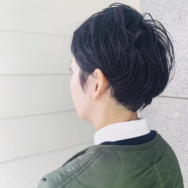 黒髪ベリーショート28