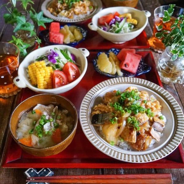 秋刀魚の蒲焼き卵とじ丼