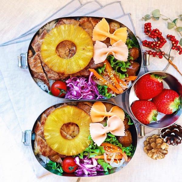 豚肉とパイナップルのステーキ弁当