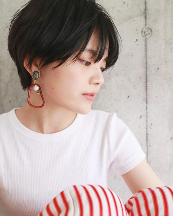 黒髪ショートボブ(前髪あり)3