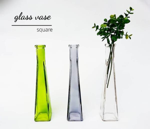 ガラス花瓶 角型(キャンドゥ)