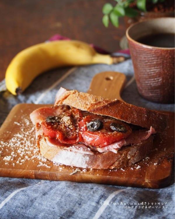 バゲットで作るサンドイッチ