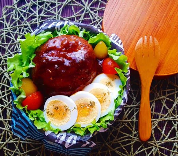 ゆで卵で簡単ロコモコ丼