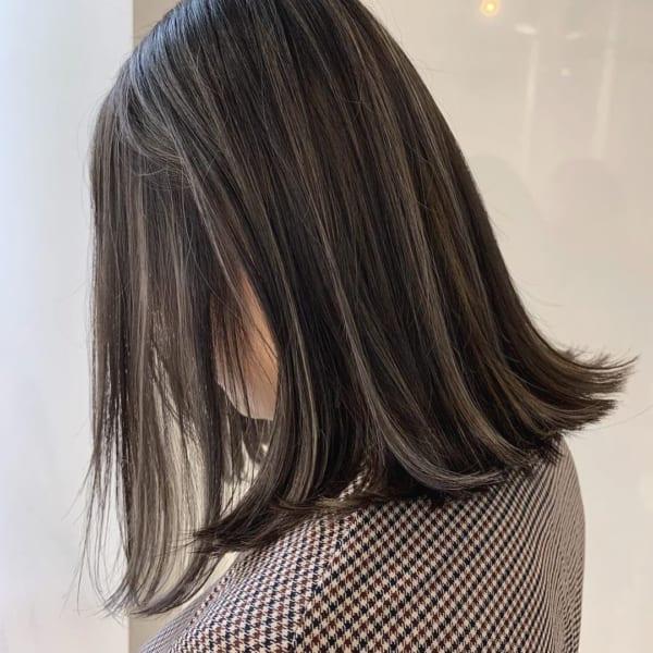 黒髪 グラデーション6