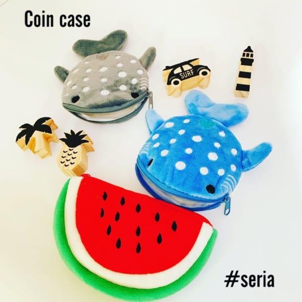 スイカのコインケース(セリア)