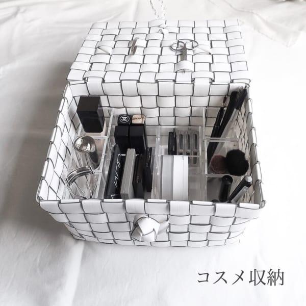 コスメ収納はコスメのサイズに合ったケースで細かく仕切る
