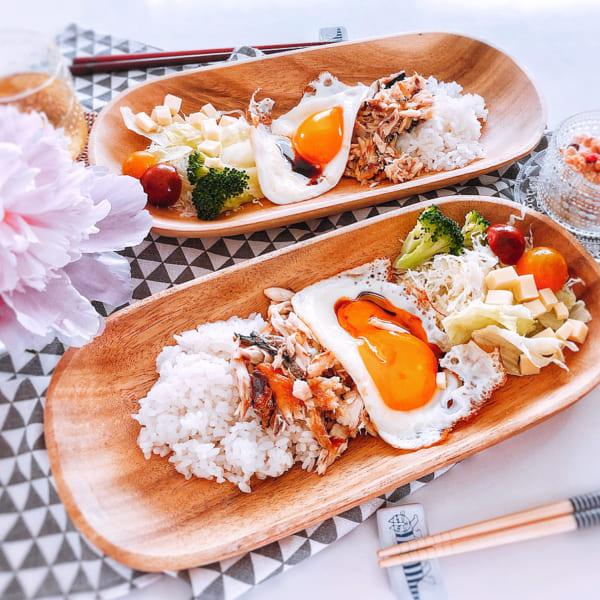 サバのほぐし身でワンプレート和食
