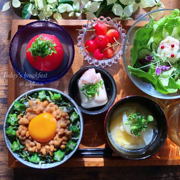 納豆丼でヘルシースタミナ定食
