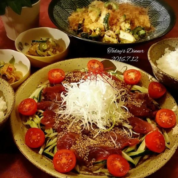 韓国風カツオのタタキ