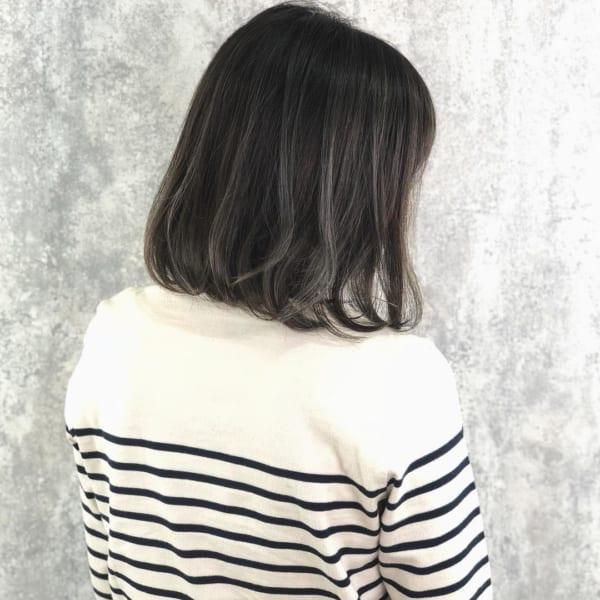 黒髪 グラデーション8