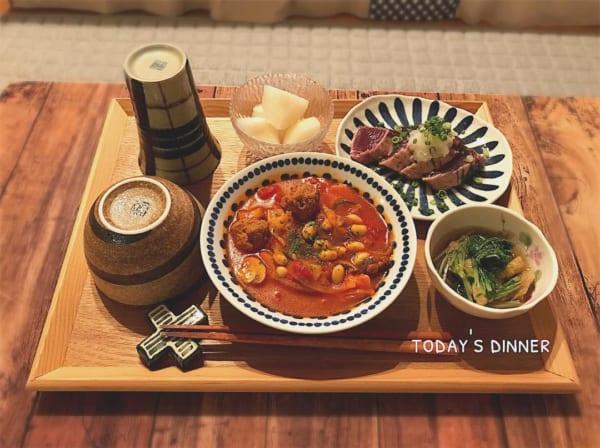 肉団子とたっぷり野菜のトマトスープ