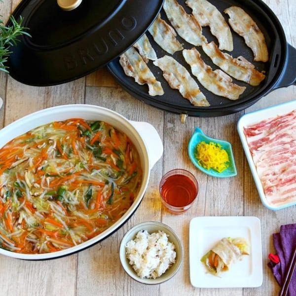 野菜あんで食べる豚バラ焼肉