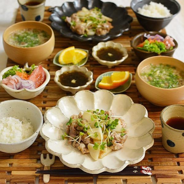 豚肉と長芋の梅肉炒め