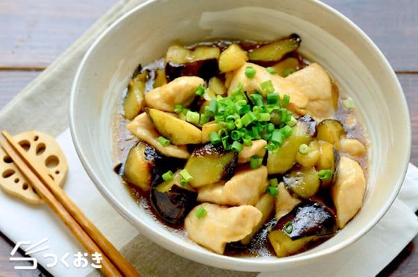 鶏むね肉となすのトロトロ炒め煮