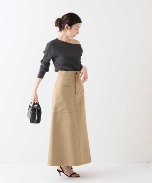 FRAMeWORK - cottonWクロススカート