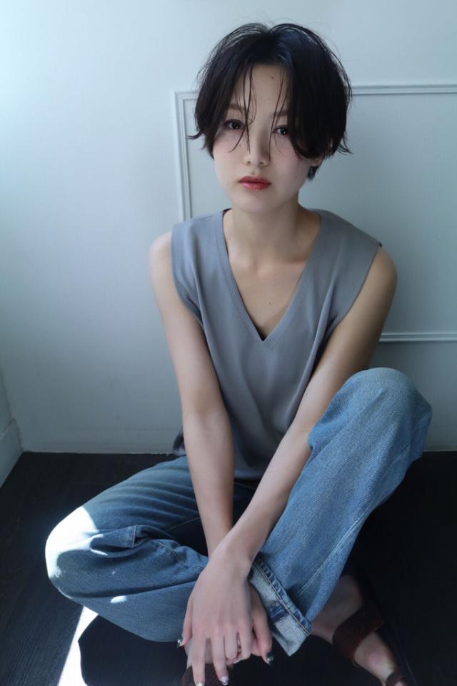 黒髪ショートボブ(大人アレンジ)10