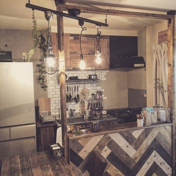 カフェ風キッチンを賃貸で作る14
