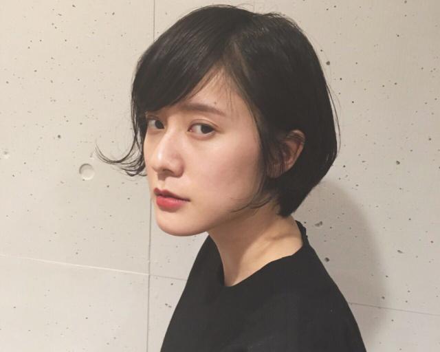 黒髪ショートボブ(大人アレンジ)8