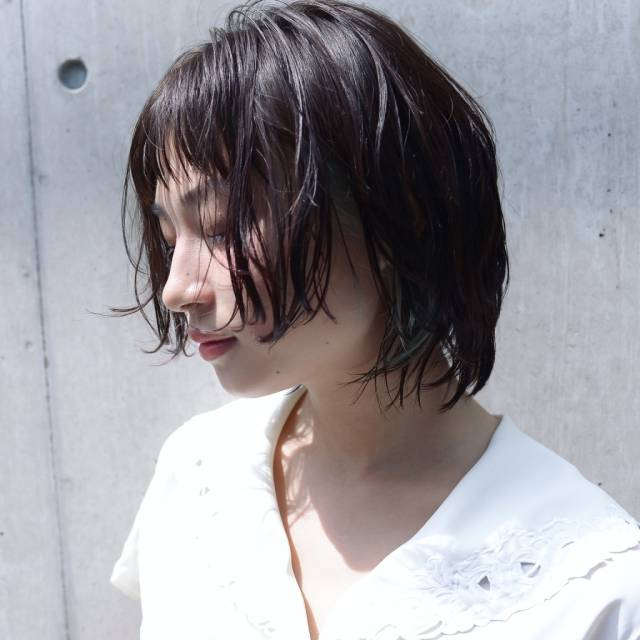 黒髪ショートボブ(パーマ)7
