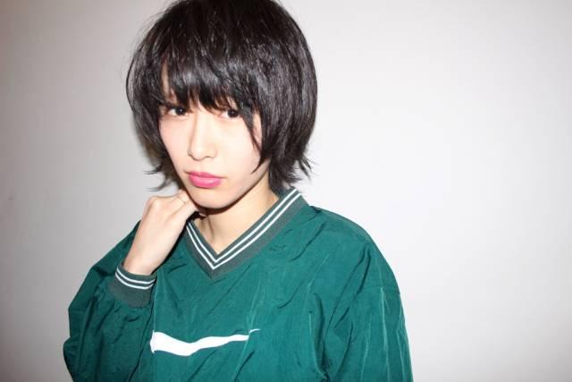 黒髪ショートボブ(大人アレンジ)17