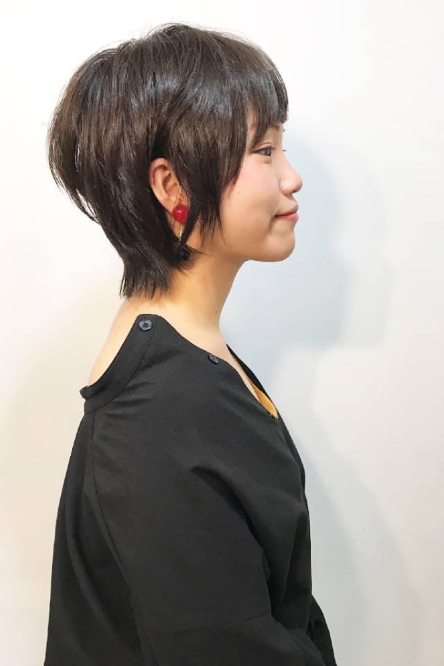 黒髪ショートボブ(大人アレンジ)16