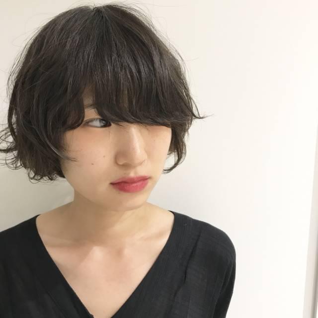 黒髪ショートボブ(ウルフ系)3